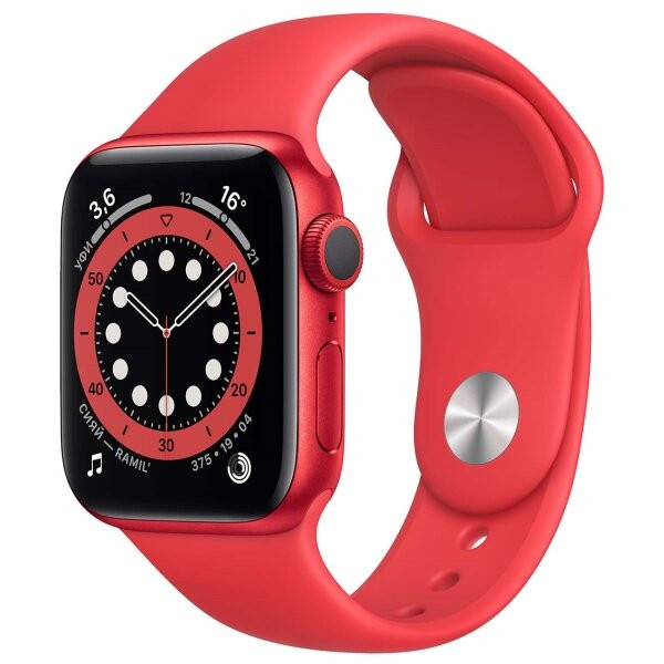 Смарт-часы Apple Watch S6 40mm PRODUCT(RED) Aluminum Case with PRODUCT(RED) Sport Band (M00M3RU/A)