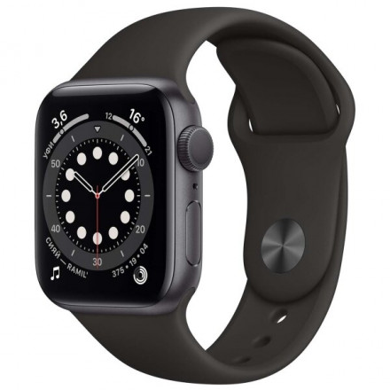 Купить Смарт-часы Apple Watch S6 40mm Space Gray Aluminum Case with Black Sport Band (MG133RU/A) в Донецке ДНР
