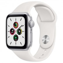 Купить Смарт-часы Apple Watch SE 44mm Silver Aluminum Case with White Sport Band (MYDQ2RU/A) в Донецке ДНР