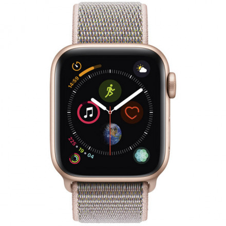 Купить Смарт-часы Apple Watch S4 Sport 40mm Gold Al/Pink Sand Sport Loop в Донецке ДНР